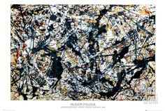 Silver On Black Poster by Jackson Pollock at Art.com