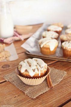 Cinnamon Roll Cupcakes | by Lauren Kapeluck for TheCakeBlog.com