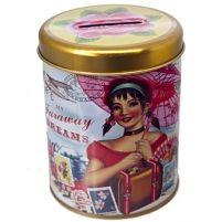 Faraway dream money box tin