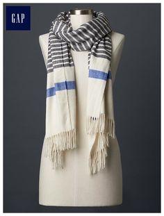 Breton stripe scarf, GAP | 3/2016