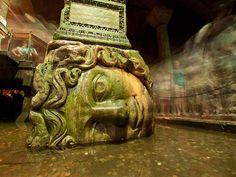 Madusa head, Basilica Cistern, Istanbul.