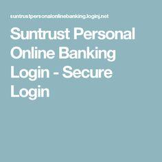 Suntrust Personal Online Banking Login - Secure Login