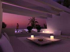 Ambientar un chill-out con luz de colores