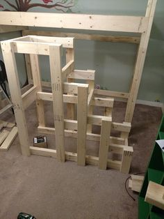 Deciding to Buy a Loft Space Bed (Bunk Beds). – Bunk Beds for Kids Pallet Loft Bed, Loft Bed Stairs, Bunk Beds With Stairs, Bunk Bed Steps, Safe Bunk Beds, Kids Bunk Beds, Stair Plan, Loft Bed Plans, Loft Spaces