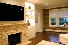 fireplace | woodwall