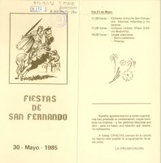San Fernando 1985 Fiestas en el barrio de San Fernando del 25 al 31 de mayo