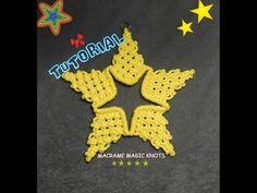 Macrame STAR Tutorial ♥ Xmas Star ♥ Macrame Magic Knots - YouTube