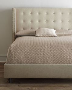 """Parlin""+Tufted+Wing+Bed+at+Horchow. $1259 plus shipping for king size"