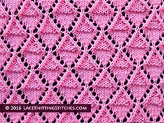 Lace knitting. Stockinette and Garter Diamonds
