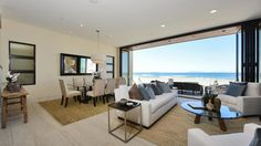 Built last year, the three-story home in Oxnard's Mandalay Beach area features bi-folding glass doors, an elevator and unobstructed ocean views.