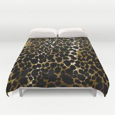 animal print bedspread;saundramylesart