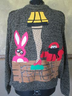 Ugly Christmas Sweater Leg Lamp A christmas Story XXL Ships Priority Mail. $40.00, via Etsy.