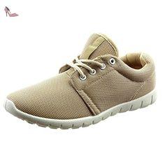 Sopily - Chaussure Mode Baskets Cheville femmes Talon bloc 2.5 CM - Beige - WLD-7-1068 T 40 - Chaussures sopily (*Partner-Link)