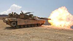 USMC M1A1 Abrams firing