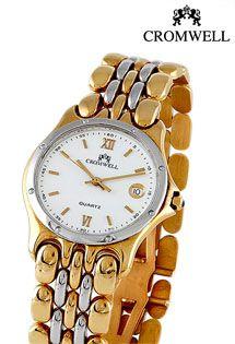 e1cb91c3376c Reloj de oro bicolor de 1ª Ley (18 Kilates) para caballero. Firma Cromwell