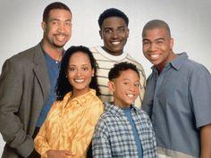Smart Guy (TV show)  John Marshall Jones, Jason Weaver and Omar Gooding (top row, from left); Essence Atkins and Tahj Mowry (bottom row)