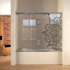 vinilos decorativos esmerilados mamparas mandalas baños !
