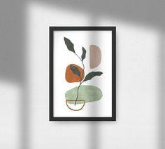 Botanical Wall Art, Botanical Prints, Modern Prints, Modern Wall Art, Wall Art Decor, Room Decor, Minimalist Art, Abstract Wall Art, Printable Wall Art