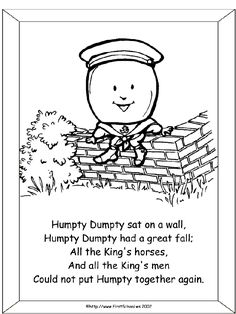 humpty dumpty coloring