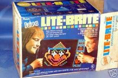 lite brite - didn't have a deluxe version, but I could play with this for hours!