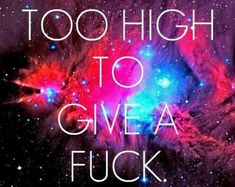 """""""Too high to give a fuck"""""""