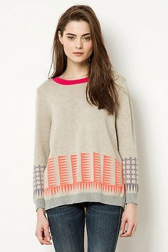 Conditions Apply Marchland Pullover #anthropologie