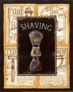Grooming Shaving Bathroom Printsbathroom