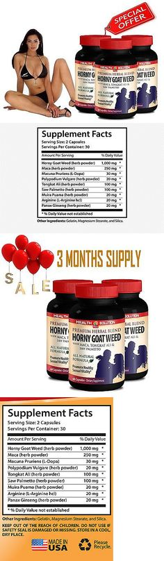 Weight Loss Kits and Accs: Muira Puama - Horny Goat Weed 1000Mg - Saw Palmetto - Tongkat Ali - 3 Bot 180 Ct -> BUY IT NOW ONLY: $32.95 on eBay!