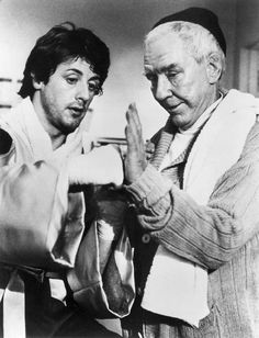 """Sylvester Stallone & Burgess Meredith, """"Rocky"""", 1976"""