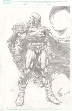 Moon Knight - David Finch Comic Art