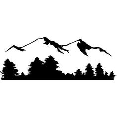 Mountain View  MEDIUM  Vinyl Wall Decal Sticker by wallstickz, $26.95
