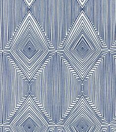 Nate Berkus Home Decor Print Fabric- Linea Paramount Caspian. Fabric for my glider cushions. Textures Patterns, Fabric Patterns, Print Patterns, Geometric Patterns, Nate Berkus, Fabric Design, Pattern Design, Ikat Pattern, Custom Curtains
