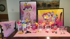 Just about ready for Juliet's Jem and the holograms party!