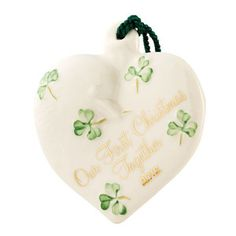 ... Irish Belleek OUR First Christmas Ornament Made IN Ireland 4045 | eBay