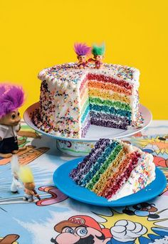 Rainbow Pop Celebration Cake from the Cereal Killer Cafe Cookbook. A colourful twist on the classic Rice Krispie square, that's worthy of a Great British Bake Off semi-final!