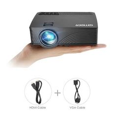 """""""Features & Benefits"""" Mini Projector, GBTIGER GP-12 2000 Lumens LED Home Projector Support Full HD 1080P 800 x 480 Pixels Portable Multimedia Home Theater Movie Game Video Projector with VGA HDMI Cable, Black"""