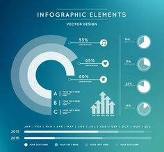 20 Web Designs That Look Like Animated Infographics - white-round-chart-on-turquoise-background-vector - Web Design, Graph Design, Chart Design, Layout Design, Design Thinking, Infographic Design Inspiration, Powerpoint Design Templates, Charts And Graphs, Dashboard Design