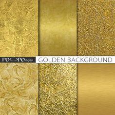 Gold Texturen digitalem Papier Blattgold golden von POandPOdigital