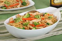 Mäsovo brokolicové cestoviny Japchae, Ethnic Recipes, Food, Meal, Essen, Hoods, Meals, Eten