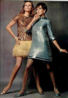 Follow Rent a Stylist https://www.pinterest.com/rentastylist/ 1967 dresses Cardin & Yves Saint Laurent