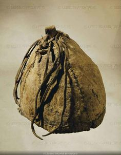 Miner's leather cap with leather strings from the ancient saltmine at Hallstatt (8th-3rd BCE). (c) Photograph by Erich Lessing. Hallstatt was the predominant Central European culture from the 8th to 6th centuries BCE (European Early Iron Age)