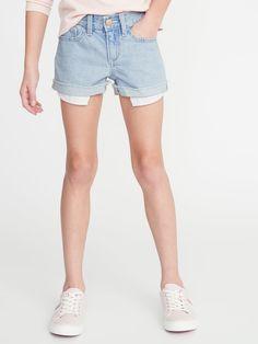 Old Navy Girls' Exposed Pocket-Bag Denim Shortss Raindrop Size 16 Cute Shorts, Denim Shorts, Old Navy Girls, Shop Old Navy, Girls Pants, Short Girls, Stylish Girl, Summer Looks, Perfect Fit