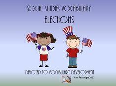 Social Studies Vocabulary: Elections Teaching Unit
