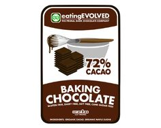 72% CACAO BAKING CHOCOLATE  Tired of finding that perfect Paleo dessert recipe but having to settle for non-organic chocolate that has been sweetened with refined sugar? Now you can enjoy the highest quality, refined-sugar free chocolate in your home-made creations.  - See more at: http://eatingevolved.com/?wpsc-product=72-cacao-baking-chocolate#sthash.a8LnGXbJ.dpuf