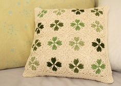 crochet cushion cover by Annie Illustration, via Flickr