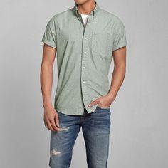 Mens Dot Print Poplin Shirt   Mens Shirts