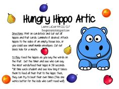Busy Bee Speech: Hungry Hippo Artic Freebie!