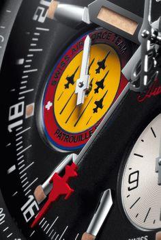 "BREITLING Chronomat 44 GMT ""Patrouille Suisse 50th Anniversary"" - flight team logo at 9 o'clock"