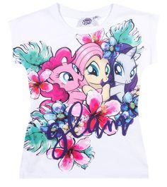 Hasbro My Little Pony Girls short sleeve Cotton Top d36f9aa40