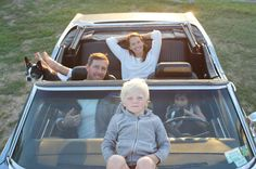 love this pic of christy turlington's family - a great idea for a family snap!